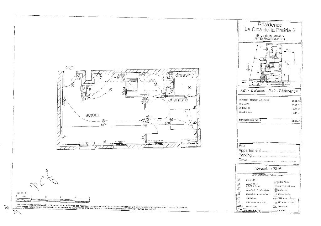 Appartement Rambouillet 2 pièce(s) 44.25 m2